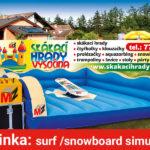 Fotografie 1. Zábavná atrakce snowbordové nebo surfové prkno