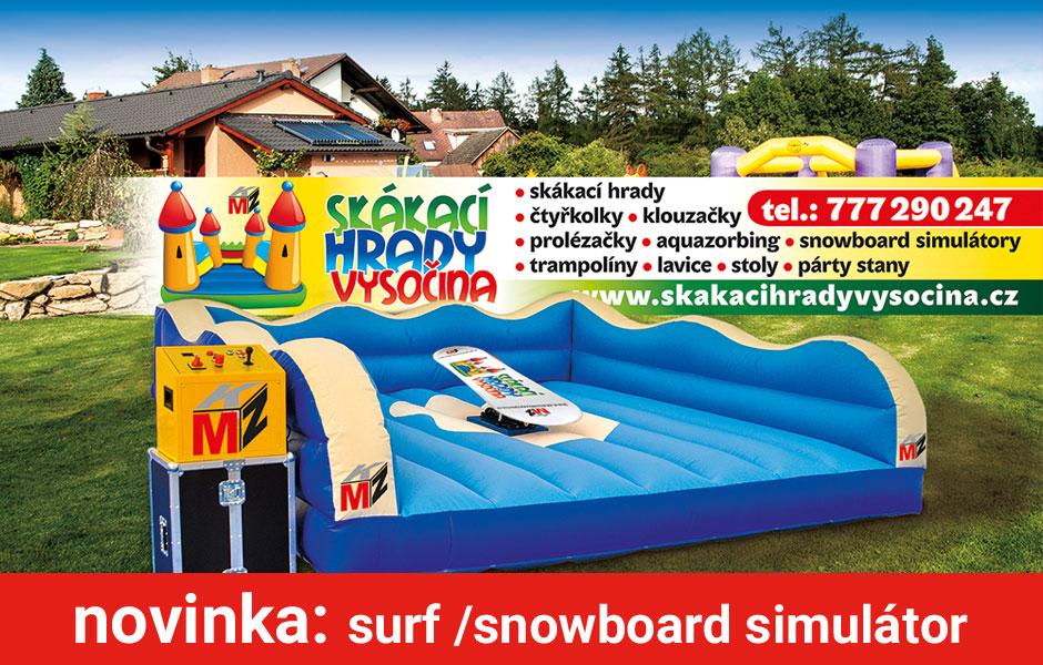 Zábavná atrakce surf / snowboard simulátor