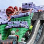 Fotografie 14. Velký skákací hrad se skluzavkou STRAŠIDELNÝ DŮM – extra maxi XXXL
