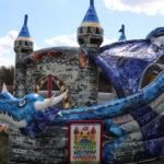 Fotografie 4. Nafukovací skákací hrad – modrý dračí hrad II