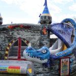 Fotografie 5. Nafukovací skákací hrad – modrý dračí hrad II
