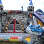 Fotografie 6. Nafukovací skákací hrad – modrý dračí hrad II