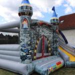 Fotografie 8. Nafukovací skákací hrad – modrý dračí hrad II
