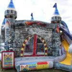 Fotografie 14. Nafukovací skákací hrad – modrý dračí hrad II