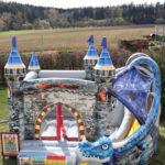 Fotografie 19. Nafukovací skákací hrad – modrý dračí hrad II