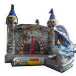 Fotografie 2. Nafukovací skákací hrad – modrý dračí hrad II