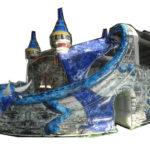 Fotografie 1. Nafukovací skákací hrad – modrý dračí hrad II
