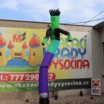 Fotografie 3. Nafukovací tančící panák – zelený tanečník