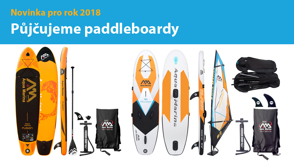 Půjčovna paddleboard
