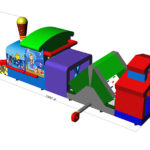 Fotografie 15. Nafukovací lokomotiva (2) MAXI – tunel