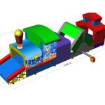 Fotografie 16. Nafukovací lokomotiva (2) MAXI – tunel